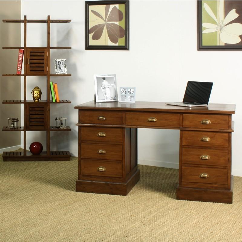 Bureau ministre in line en teck en vente chez origin 39 s meubles for Frais de notaire meuble