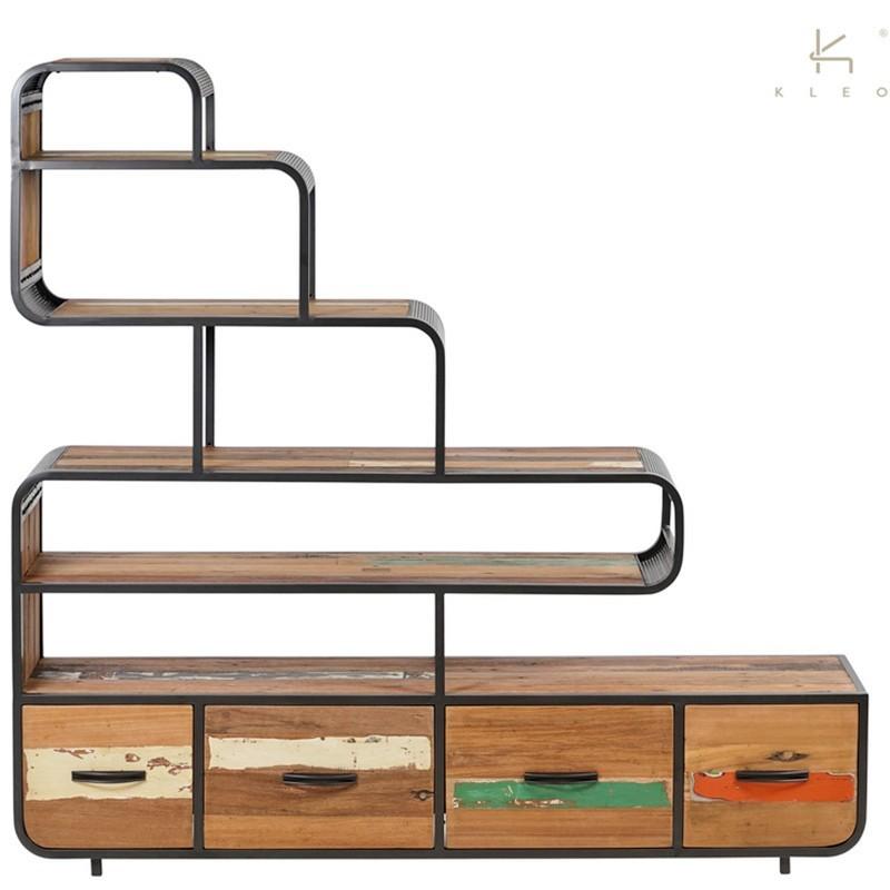 Etagère escalier Aru 4 tiroirs 180 cm