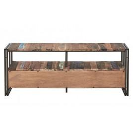 Meuble TV industriel 3 Tiroirs Urban Samudra métal et bois recyclé