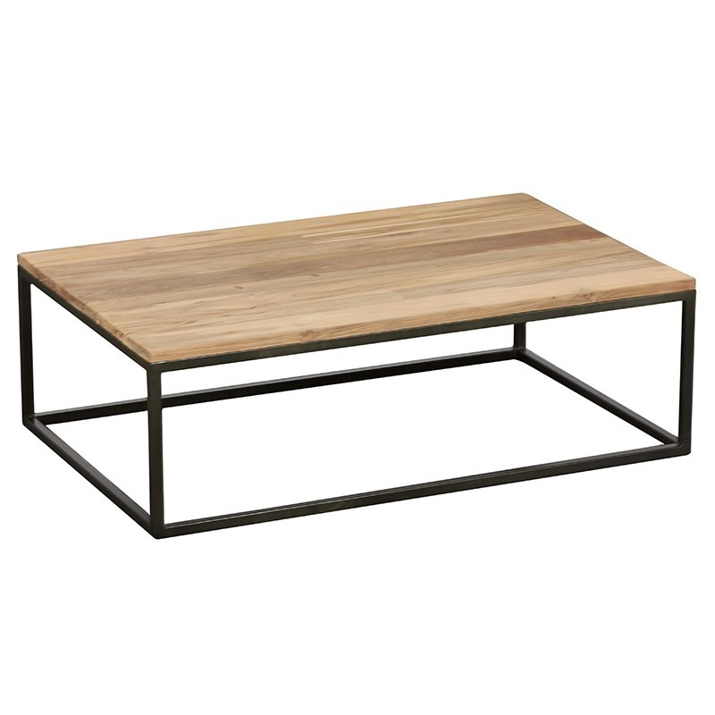 Table Basse Industrielle Rectangle 110 Cm Ibiza